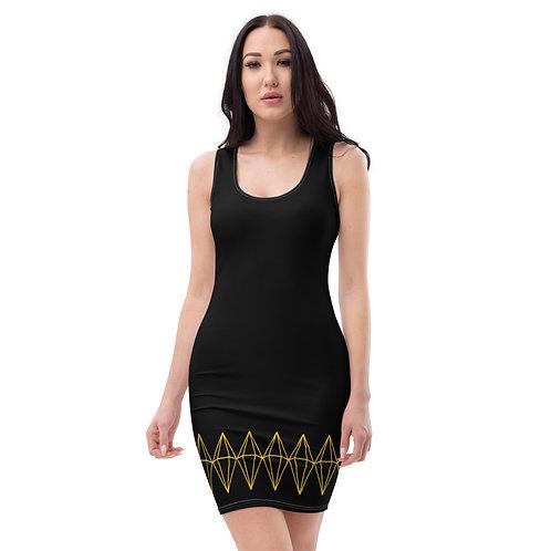Sublimation Diamond Dress (Black)