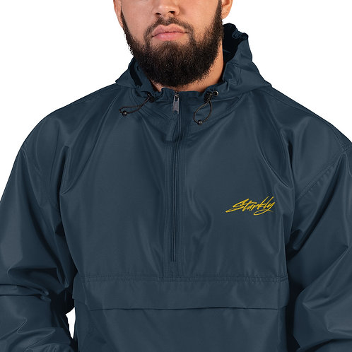 Embroidered Packable Jacket (Gold text)