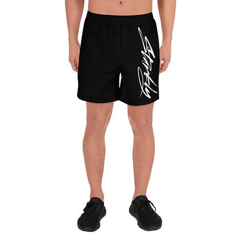 Men's Athletic Shorts Sideprint (White text)