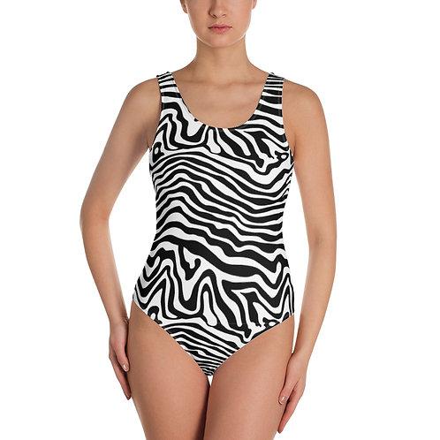 Zebra One-Piece Swimsuit