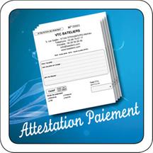 Attestation de paiement de licence