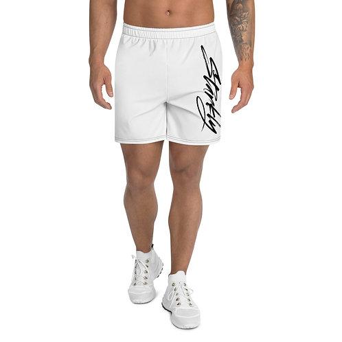 Men's Athletic Shorts Sideprint (Black text)