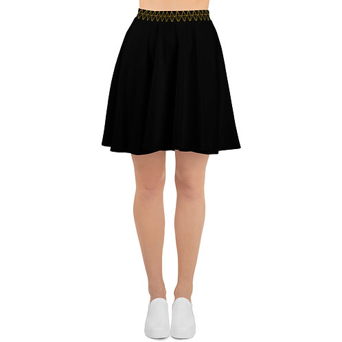 Gold Diamond Print Skirt