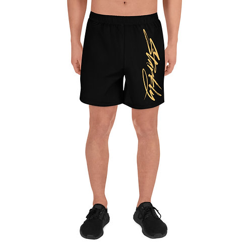 Men's Athletic Shorts Sideprint (Gold text)