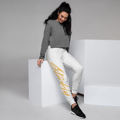 Women's Starkly Sweatpants (Gold text)