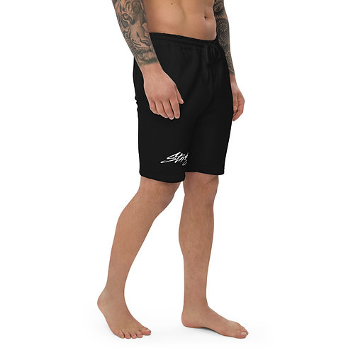 Men's fleece shorts (White text)