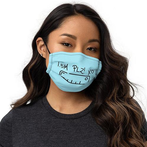 """1.5M PLZ! XO"" Face Mask"