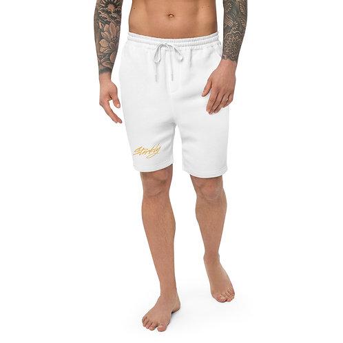 Men's fleece shorts (Gold text)