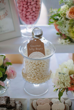 Rustic lolly buffet tag