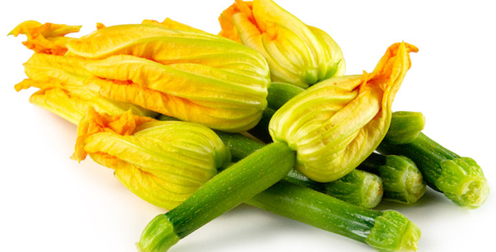 Edible Flowers (Squash Blossoms with Baby Zucchini)