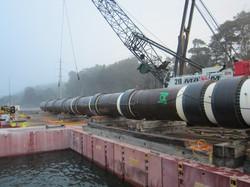 Sliplining , large diameter pipe