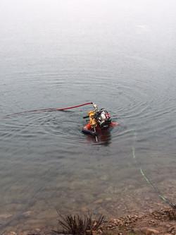 Divers using Rock drills