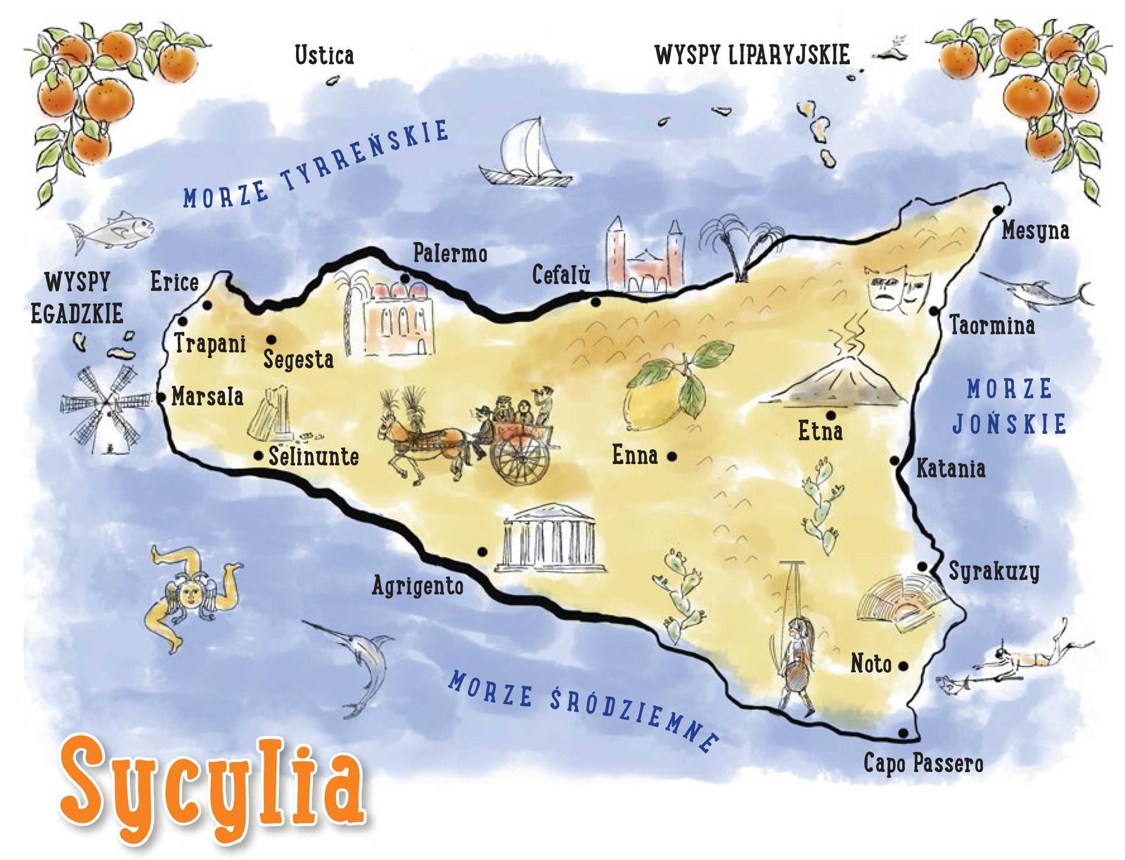 Sycylia Mapa Jpg