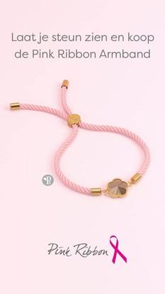Pink Ribbon armband 2020