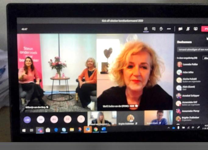 Digitale kickoff van Pink Ribbon armband 2020