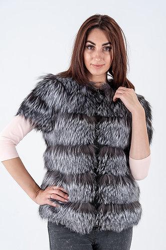 Императрица furs / Жилет натуральный из меха чернобурки