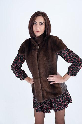 Императрица furs / Жилет натуральный из меха скандинавской норки