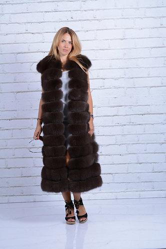 Императрица furs / Жилет натуральный из меха песца