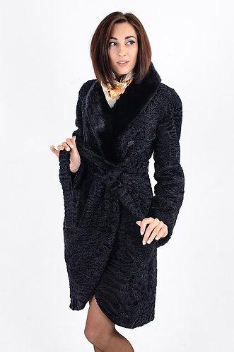 Императрица furs / Шуба натуральная из меха африканского каракуля