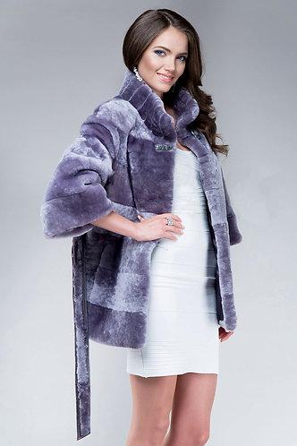 Императрица furs / Шуба натуральная из мутона премиум класса