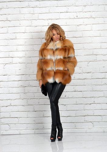 Императрица furs / Шуба натуральная из меха лисы