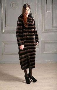 Модная поперечная норковая шуба Греция Италия Россия