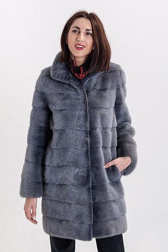 Императрица furs / Шуба натуральная из меха скандинавской норки с воротником