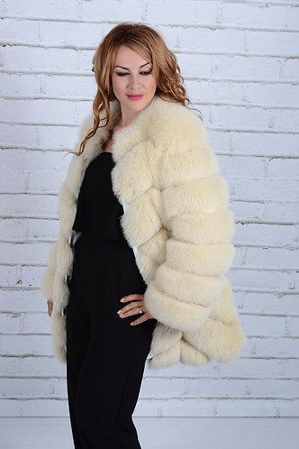Императрица furs / Шуба натуральная из меха песца