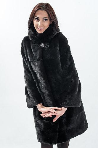 Императрица furs / Шуба натуральная из меха норки с воротником