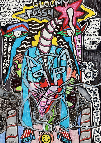 12.Chicargo imagists study drawing gloom