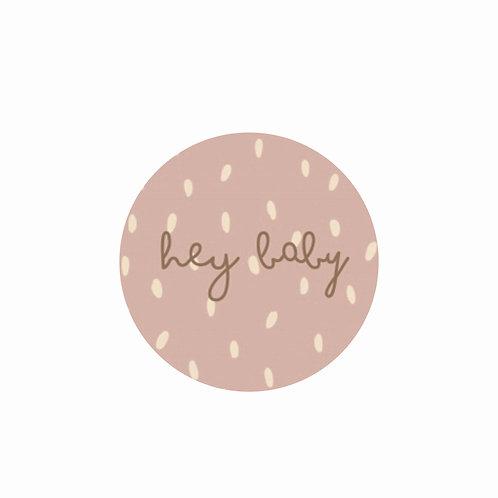Stickers roze/wit
