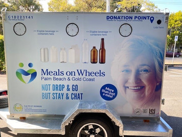 Book a can and bottle collection trailer for your next event