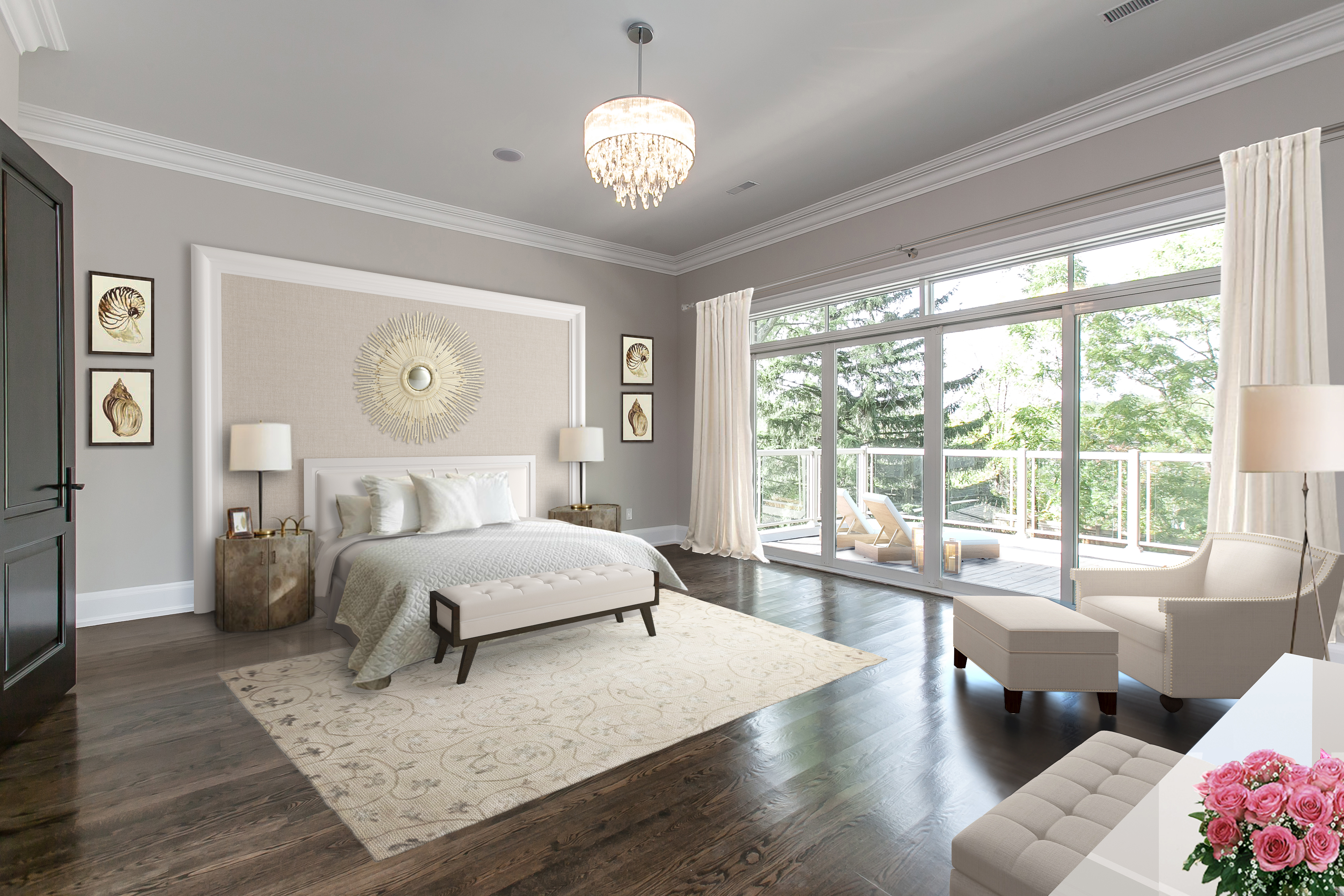 Lorne Park luxury master bed room