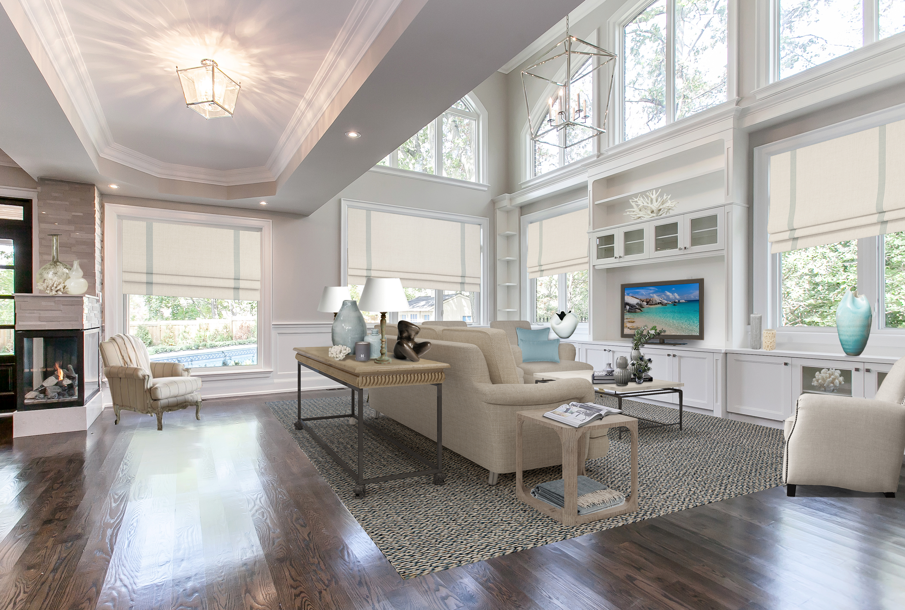 Lorne Park luxury family room