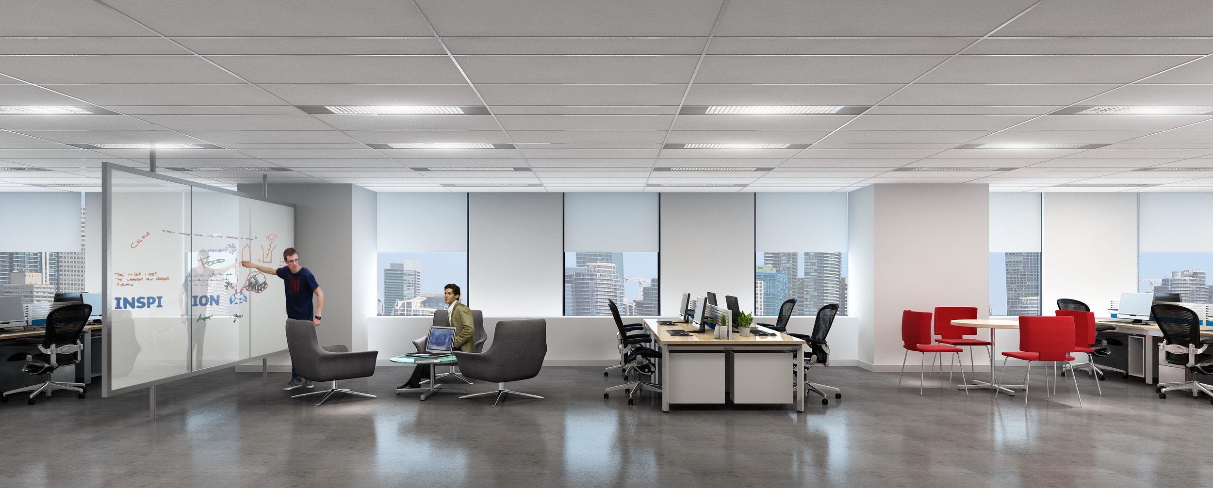 I10-BBDO Office  3D Rendering