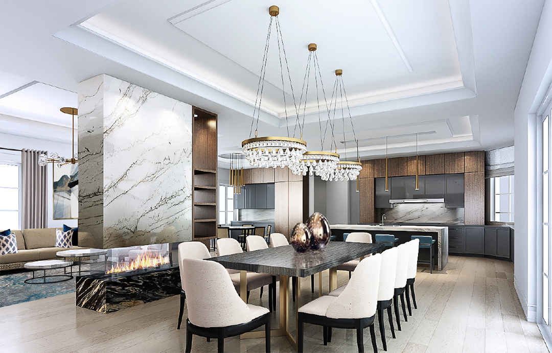 XL design  _ Dining rm rendering