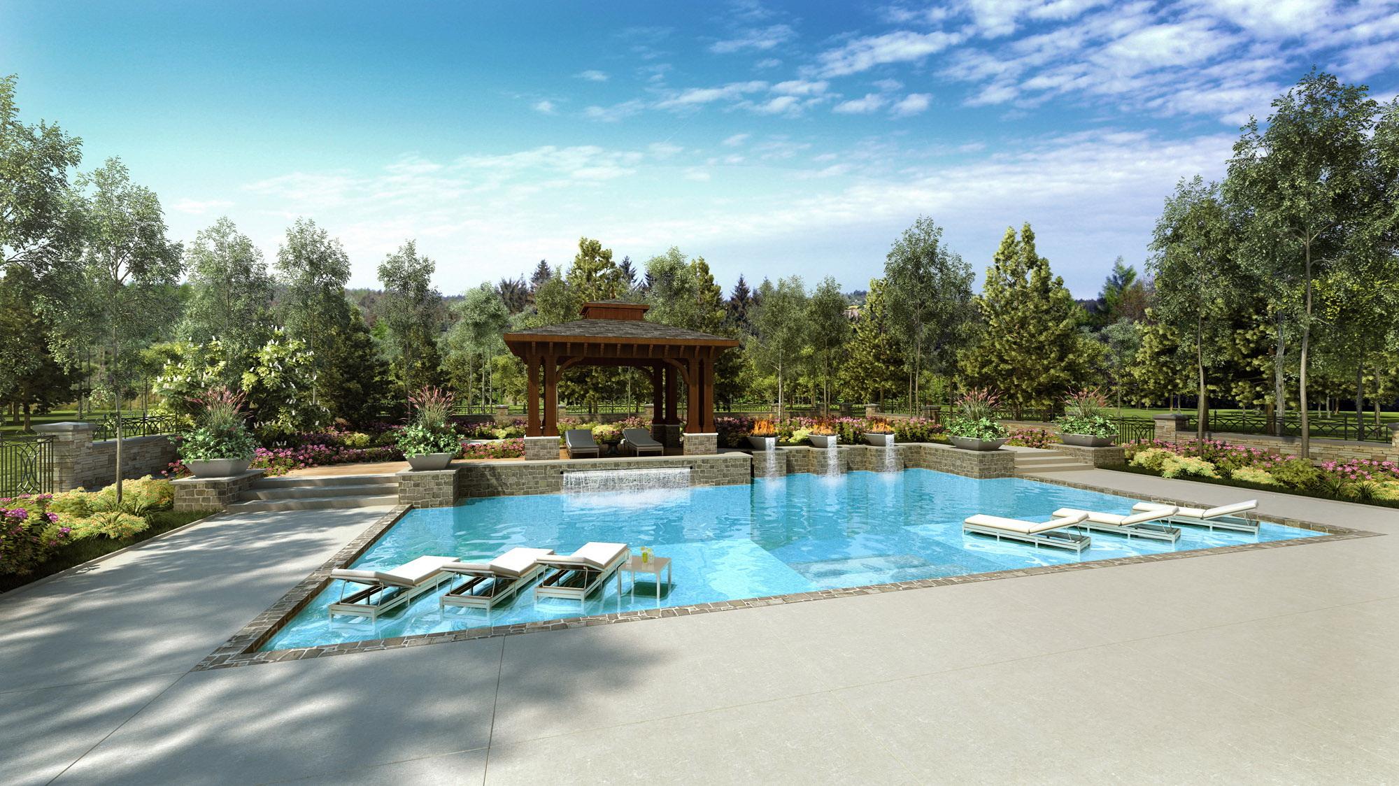 home landscape 3D visualization