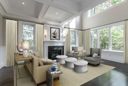 Lorne Park luxury livinf room