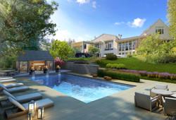 Oakville luxury home back yard