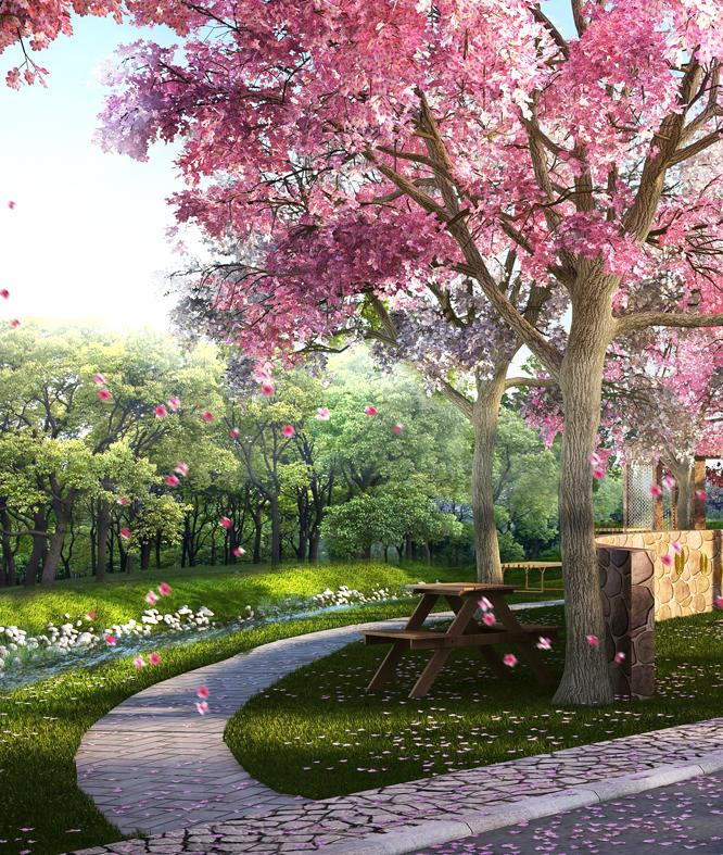 Landscape 3D Rendering