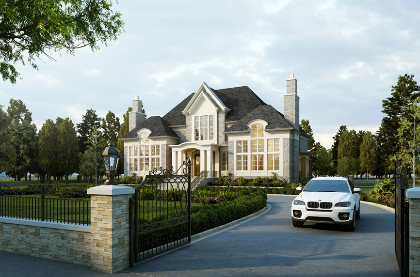 Luxury Home 3D rendering visualized