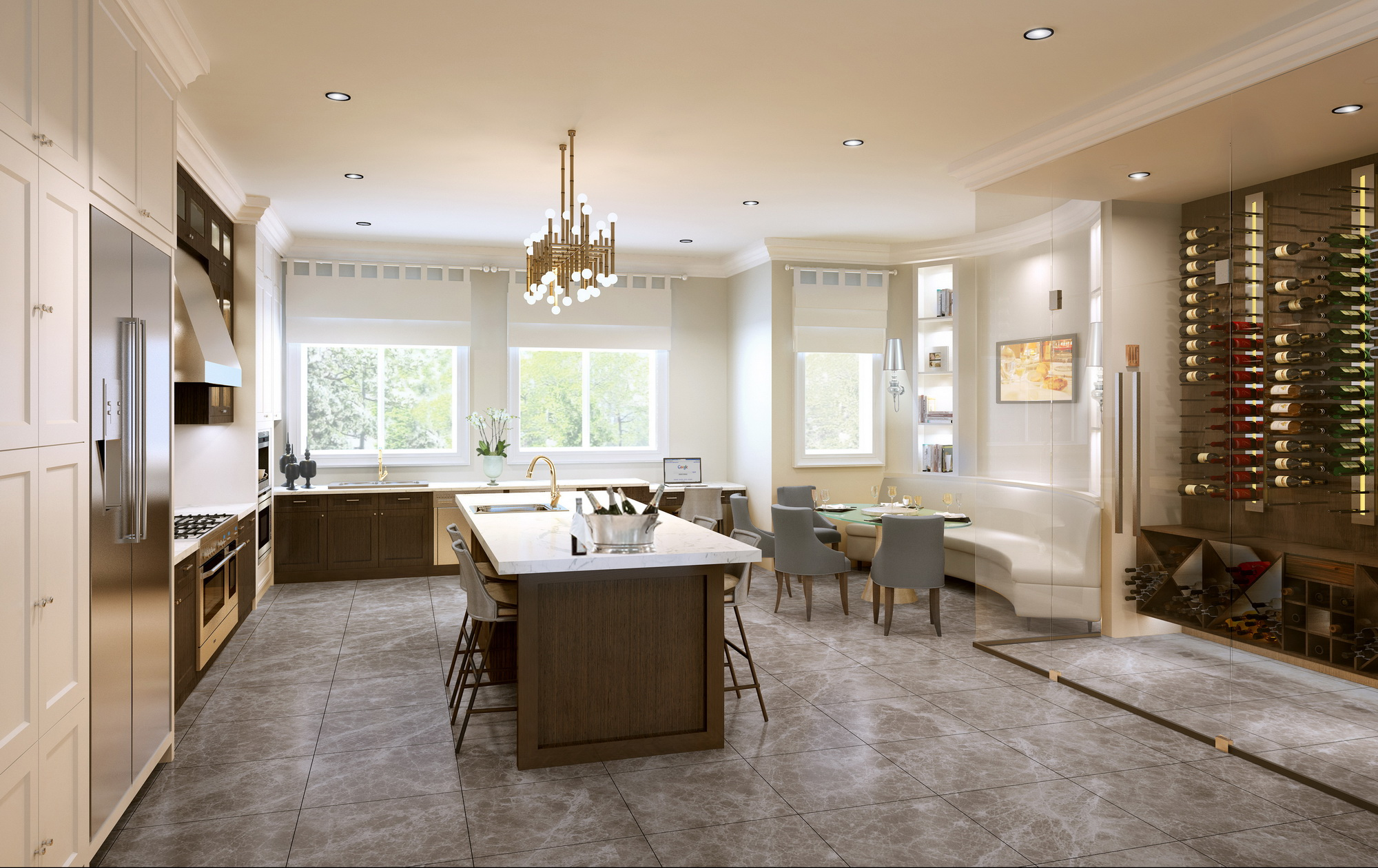 Interior 3D Rendering Kitchen