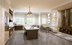 Interior 3D Rendering Kitchen