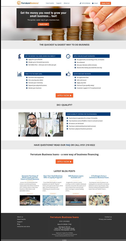 Screenshot of Ferratum Business UK