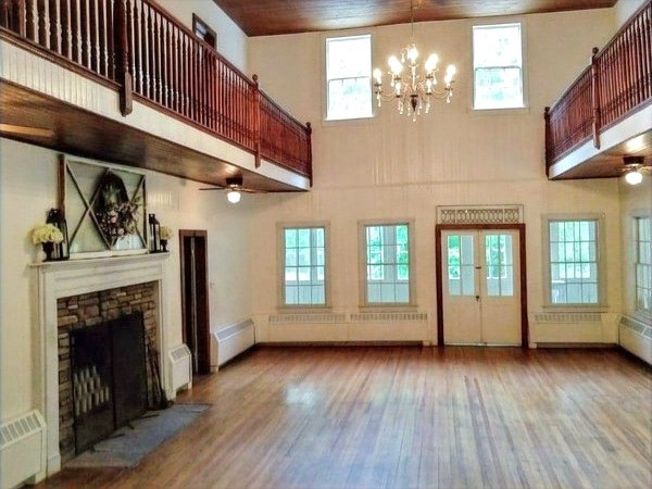 Banquet Hall With Fireplace