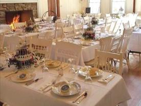 Banquet Hall Set For Dinning