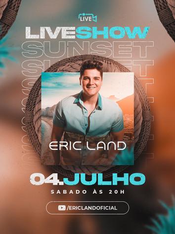 Flyer 27 - Eric Land - Live Show Sunset.