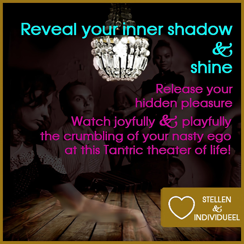Reveal Your Shadow and shine! | Zwarte Tantra Weekend Incl diner, ontbijt, lunch | Singles & Stellen | 16 + 17 okt 2021