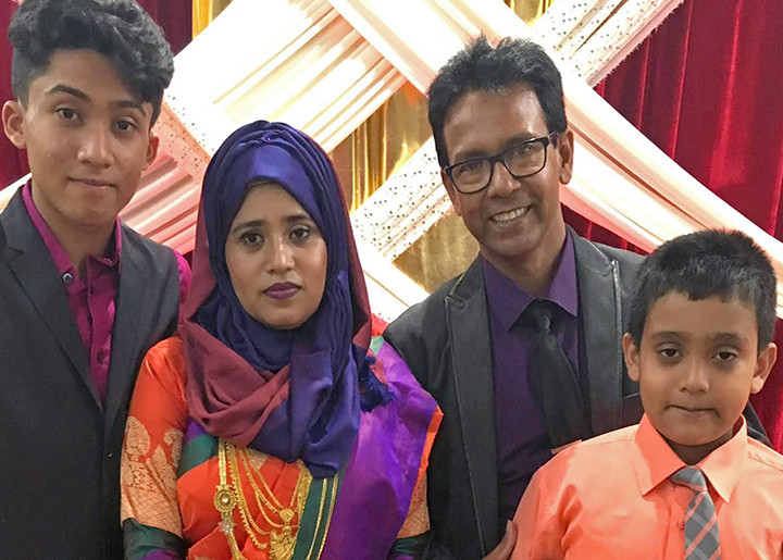 Family picture of Riaz Talukder