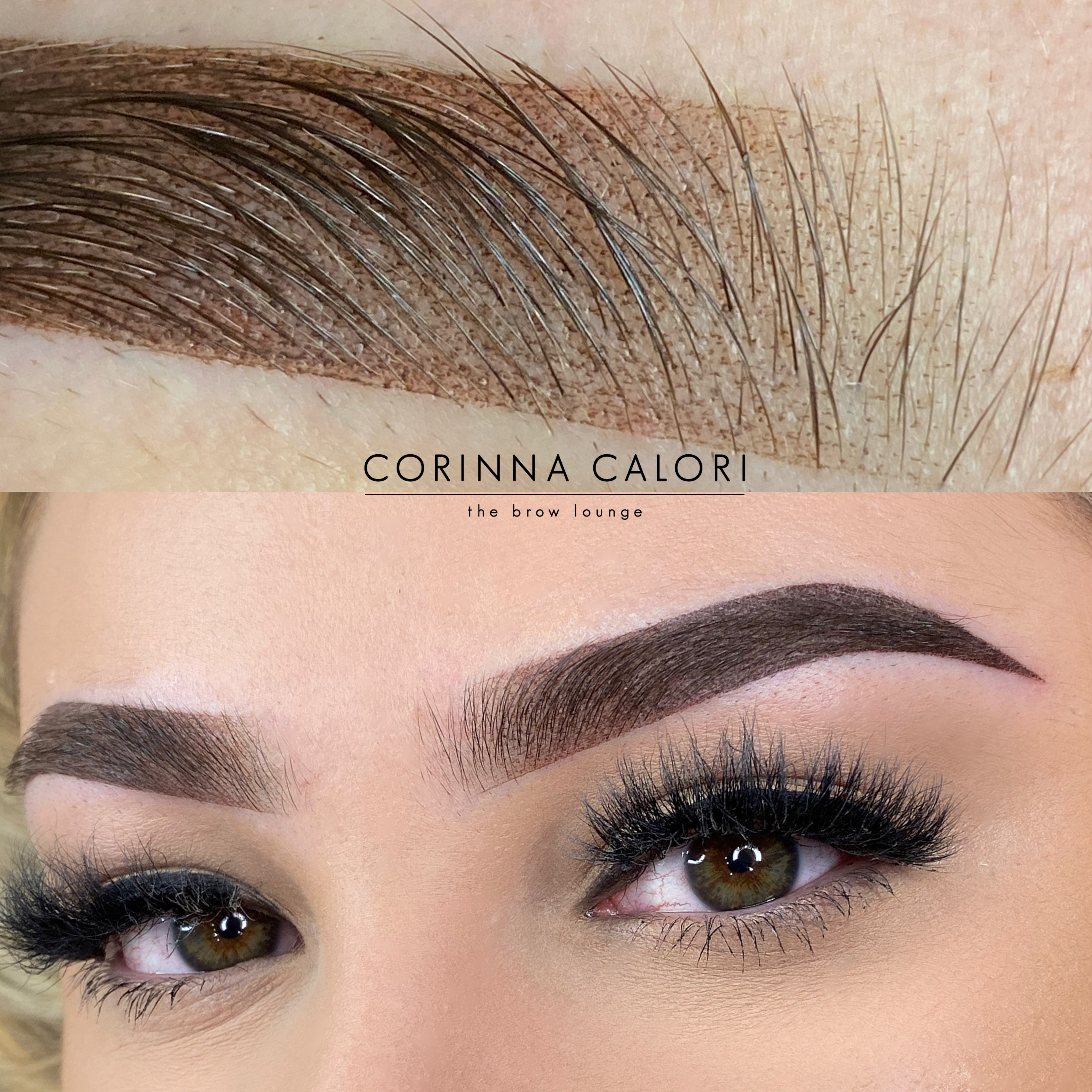 Ombre Eyebrows initial visit